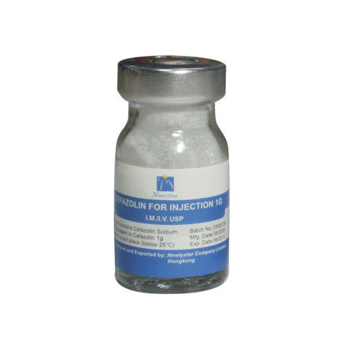 Antibiotic Dry Powder Injection / Cefazolin Sodium Injection Antibiotic Action