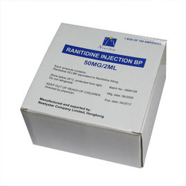 Chine injection parentérale de chlorhydrate de Ranitidine du petit volume 50mg/2ml usine