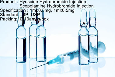 Chine Injection d'hydrobromure de Hyoscine/injection hydrobromure de Scopolamine usine