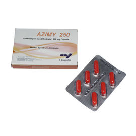 Les Tablettes orales 6 de l'Azithromycin 250mg d'antibiotiques emballent/antibiotiques de macrolide